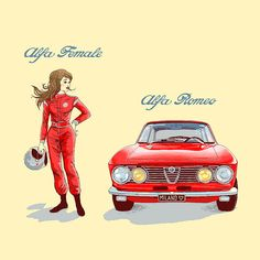 Alfa Female, Alfa Romeo. There's a reason I want to buy my wife a late-'60s Giulia. They just go together.