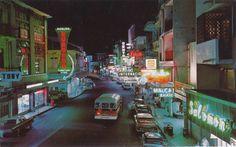 La Avenida Central de noche, finales de los años 60. #panama @PaViejaEscuela