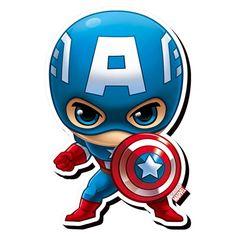 Captain America Chibi Funky Chunky Magnet Marvel Comics Heroes Avengers New Chibi Marvel, Marvel Comics, Captain Marvel, Arte Do Hulk, Die Rächer, The Avengers, Cute Chibi, Thor, Cartoon