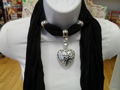 Jeweled Scarf Necklaces