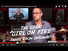 """The Great """"Girl on Fire"""" Snare Drum Giveaway!##"""