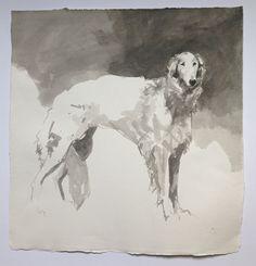 Animal Paintings, Animal Drawings, Beautiful Dogs, Animals Beautiful, Borzoi Dog, Russian Wolfhound, Greyhound Art, Watercolor Animals, Dog Portraits