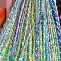 I love how this yarn came out. It's a handspun which is Navajo plyed but with an…