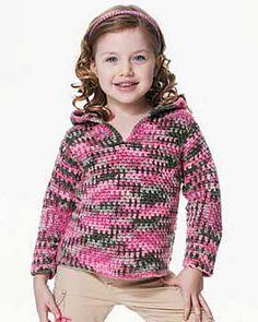 Bernat Crochet Kids Hoodie pattern ... working on this now!