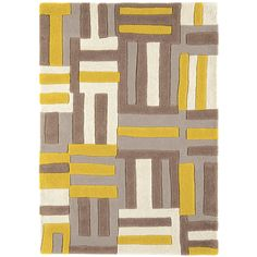 Mandloi Hand-Woven Yellow/Brown Area Rug Longweave Rug Size: Rectangle 200 x