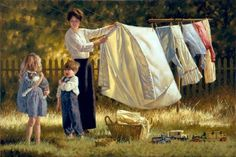 dancing under the clothesline and makin mud pies under the willow tree by grandma's house