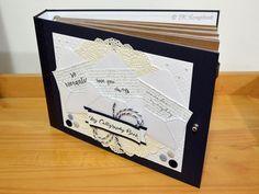 Portfólio para caligrafia artística em scrapbook (visão geral das folhas internas)