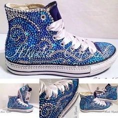 I would totally wear these!  :D  Luxury Converse / wedding converse / bridal converse / prom converse / unique converse / converse rhinestones / customised / bespoke / bling