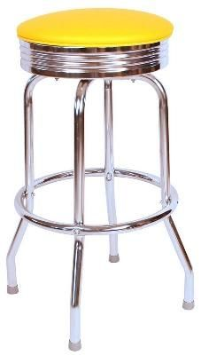 Shop a great selection of Richardson Seating Retro Chrome Swivel bar Stool Seat Metal, 24 , Black. Find new offer and Similar products for Richardson Seating Retro Chrome Swivel bar Stool Seat Metal, 24 , Black.