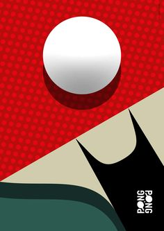 Ping Pong / Table Tennis Poster // Illustration © 2016 Christian Chladny