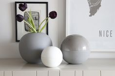 Ball vase hvit