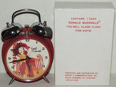 Vintage MINT in Box Ronald McDonald ALARM CLOCK Two-Bell McDonald's Fast Food - http://hobbies-toys.goshoppins.com/fast-food-cereal-premium-toys/vintage-mint-in-box-ronald-mcdonald-alarm-clock-two-bell-mcdonalds-fast-food/