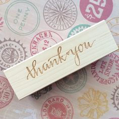 Thank You Stamp / Calligraphy Stamp / Handlettered Stamp / Modern Calligraphy / Handwritten Stamp / Wedding Stamp / Thank you / Personlized by SugarAndChicShop on Etsy https://www.etsy.com/listing/208989838/thank-you-stamp-calligraphy-stamp