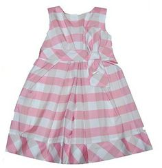 Pink Gingham Check Fancy Girls Dress from Mayoral - Spain at Pumpkinheads