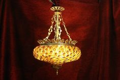 This is an unusual chandelier as the bottom is made up of floral shaped glass pieces all separately wired into a frame. These give of a very nice light Dimensions height 27 inches, width 18 inches. Bowl Light, Light Decorations, Renaissance, Chandelier, Ceiling Lights, Antiques, Glass, Frame, Floral