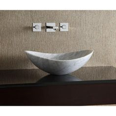 Kohler K2335 8 WH Purist Wading Pool Vessel Style Bathroom Sink   White At  Ferguson.com | Powder Rooms | Pinterest | Sinks, Carrara Marble And Carrara