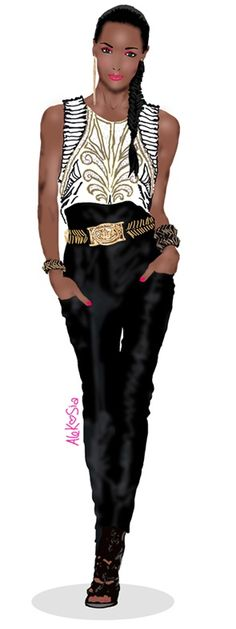 awesome fashion illustration, balmain, illustration, fashion, gold, catwalk, black, girl... by http://www.dezdemonfashiontrends.top/fashion-sketches/fashion-illustration-balmain-illustration-fashion-gold-catwalk-black-girl/