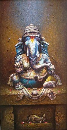 Lord Ganesha Paintings, Spiritual Paintings, Ganesha Art, Krishna Art, Ganesha Pictures, Ganesh Images, Ganpati Drawing, Indian Art Paintings, Abstract Paintings