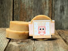 Pink Grapefruit Soap by BubbleOwlSoap on Etsy