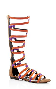 Kid Leather And Suede Kaliste Gladiator Sandals by PIERRE HARDY Now Available on Moda Operandi