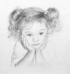Child portrait in graphite pencil on paper. Click the picture or the 'read it' button above to see the pencil portrait gallery
