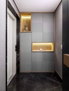 Geometry gives personality and breadth to this apartment - New Deko Sites Wardrobe Door Designs, Wardrobe Design Bedroom, Wardrobe Doors, Office Interior Design, Office Interiors, Modern Interior, Interior Decorating, Foyer Design, Luxury Wardrobe