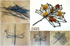 Őszi dekoráció készítése faágakból - Manó kuckó