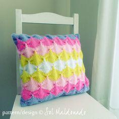 Knit decorative Pillow pattern