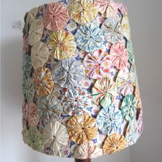 "Image of Vintage 1930s Suffolk Puff or ""Yo Yo"" Lampshade"