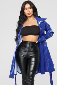 Spontaneous Thoughts Jacket - Royal - Y - Women's Fashion Dresses, Sexy Dresses, Evening Dresses, Halter Maxi Dresses, Fashion Clothes, Raincoats For Women, Jackets For Women, Stylish Outfits, Cute Outfits