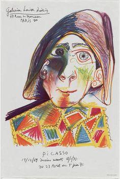 Pablo Picasso. Galerie Louise Leiris, Picasso. 1971 #art