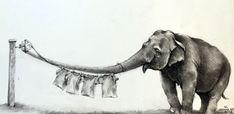 Adonna Khare | Elephant Clothesline @ Visions West Gallery :: Work :: Visions West Gallery