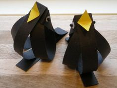 DIY paper birds, in yellow or white,made for Easter.....