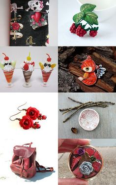 Red Treasures - Fresh Summer 2016 Finds by Lily Rose on Etsy--Pinned with TreasuryPin.com