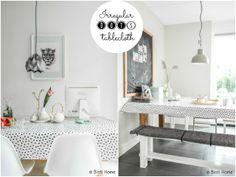 pretty dotted pattern / irregular polka dot / oilcloth / fun DIY? / Passion shake blog