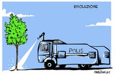 Rivoluzione, #lavignetta di @maurobiani #occupygezi