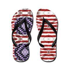 5ac459102 USA Flip Flops  American Flag  OXgraphics