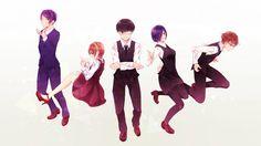 Tokyo Ghoul Characters Kaneki Kirishima Touka 9cha Picture