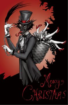 Krampus Christmas Card by TheDormousesTale on Etsy, $2.00