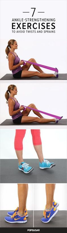 Ankles shouldn't be neglected during your strength-training routine. Strong, flexible ankles are an important foundation, helping prevent injury whether you're running back and forth on the tennis cou (Fitness Tips Of The Day) Body Fitness, Physical Fitness, Fitness Tips, Fitness Motivation, Health Fitness, Fitness Workouts, Physical Pain, Physical Exercise, Health Club