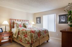 Bedroom | #rentthehomestead #apartments #fullerton #brookfurniturerental