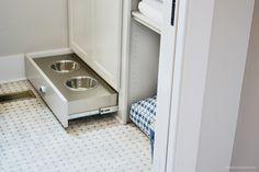 HGTV Smart Home Pet Bowls in Cabinet
