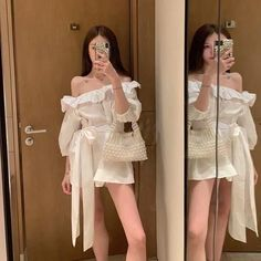 Clothes Ideas Archives - Best DIY and Crafts Ideas Korean Girl Fashion, Ulzzang Fashion, Kpop Fashion Outfits, Korean Outfits, Japanese Fashion, 70s Fashion, Asian Fashion, Fashion Dresses, Womens Fashion