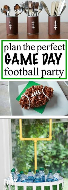 throw the perfect tailgate, football party with football themed foods and decorations - perfect game day