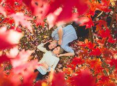 Fall Engagement Pics ~ we ♥ this! moncheribridals.com