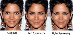 Face Symmetry of Celebrities- BUT would ya look at that damn halley berry- either way you cut her - she is damn beautiful,... meanwhile i have 1/2 a monkey ass for my left side of my face