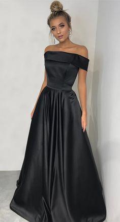 black prom dresses, long prom dresses, 2018 prom dresses, off the shoulder black long prom dress graduation dress formal evening dress