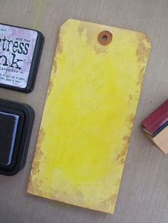 distressing tags - great information on the various inks and how they work with each other...