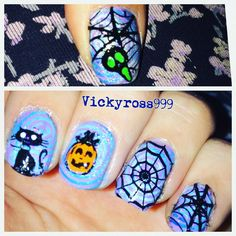 CICI&SISI halloween super cool manis stamping for treat or trick