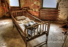Bed at Penhurst Asylum. (I had permission to be at the site for photography.)